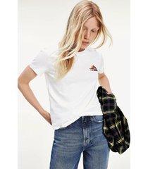 polera classics algodón orgánico blanco tommy jeans