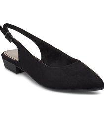 woms sling back ballerinaskor ballerinas svart tamaris