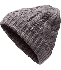 gorro cable minna gris the north face