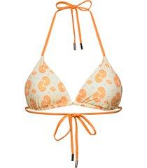 celesta bikini top bikinitop orange becksöndergaard