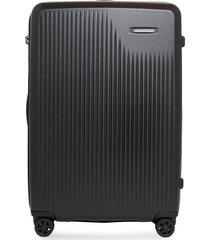 sympatico large expandable spinner suitcase - black