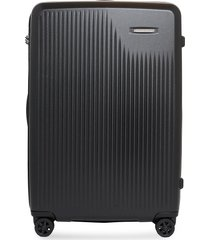 sympatico large expandable spinner suitcase - black