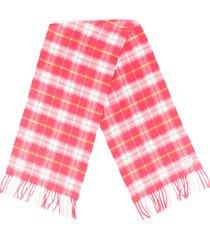 burberry pink plaid cashmere scarf pink sz: