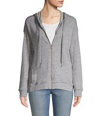 heathered zip hoodie