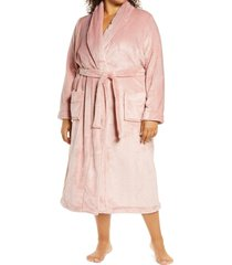 plus size women's nordstrom bliss plush robe, size 3x - pink