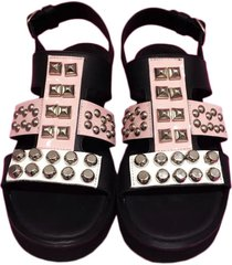sandalia de cuero rosa chenzi chiara