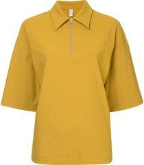 08sircus zipped collar blouse - yellow