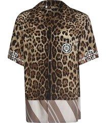 dolce & gabbana leopard-skin effect shirt