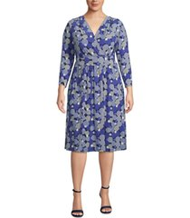 anne klein plus size surplice a-line dress
