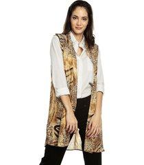 kimono estampado camel charby 136879