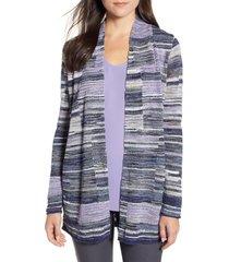 women's nic+zoe fair and square cardigan, size small - purple