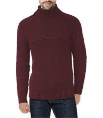 x-ray men's ribbed pattern turtleneck sweater