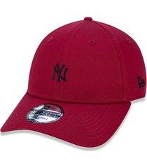 boné new era 940 snapback new york yankees vermelho escuro
