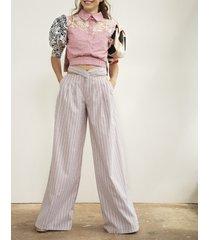 spodnie z wiązaniem z tyłu
