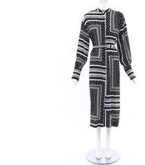 co. geometric printed shirt dress black/white/geometric sz: s