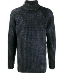 avant toi longline roll-neck sweater - blue