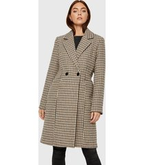 abrigo vero moda multicolor - calce regular