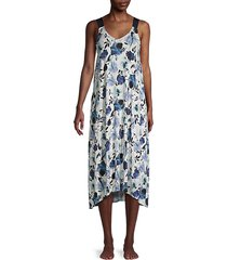 floral-print scoopneck nightgown