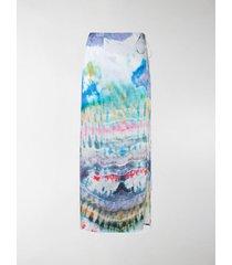 amiri tie-dye wrap skirt