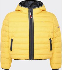parka tape detail amarillo tommy jeans