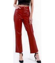 pantalon largo ecocuero terracota night concept