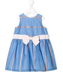 hucklebones london peplum trapeze dress - blue