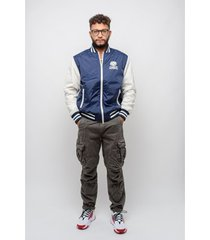 sweater franklin & marshall franklin and marshall nylon bomber jas (jm8003-205