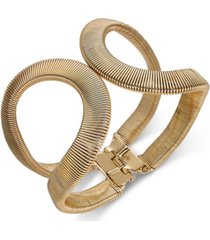thalia sodi gold-tone textured open cuff bracelet, created for macy's