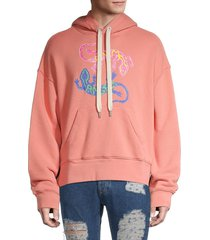 palm angels men's logo graphic hoodie - pink - size s