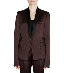 pleat back contrast blazer