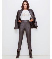 motivi pantaloni skinny lurex donna nero