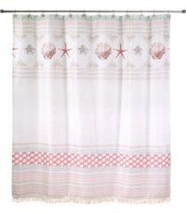 "avanti coronado 72"" x 72"" graphic-print applique shower curtain bedding"
