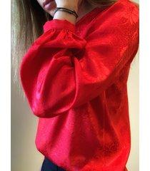 blusa roja caekilia frank