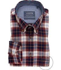 ledub shirt modern fit rood geruit