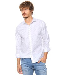 camisa blanca laundry ml claus slim estampada vte.3