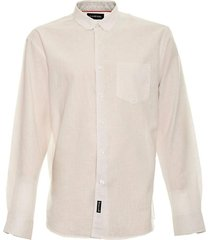 camisa lino lisa blanco mcgregor