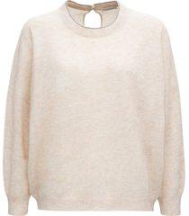 brunello cucinelli beige mohair wool sweater