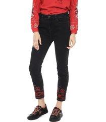 jeans desigual negro - calce skinny