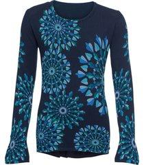 maglione fantasia a maniche lunghe (blu) - john baner jeanswear