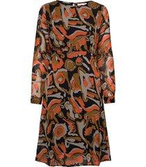 u6019, woven dress below knee jurk knielengte multi/patroon saint tropez