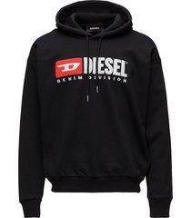 s-division sweat-shirt hoodie trui bruin diesel men