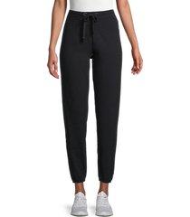 ck jeans women's logo patch joggers - black - size m