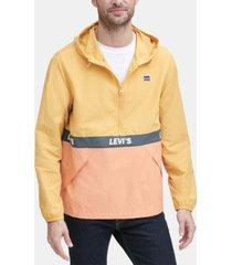 levi's men's colorblocked water resistant popover jacket
