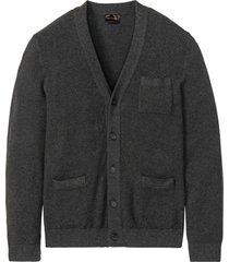 cardigan con cachemire (grigio) - bpc selection