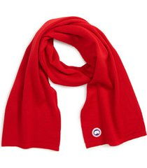 toddler canada goose merino wool scarf, size one size - red