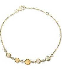effy opal (7/8 ct. t.w.) & diamond (1/8 ct. t.w.) bracelet in 14k gold