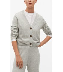 mango women's button knit cardigan