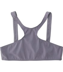 miska paris teen active bra swim top - grey