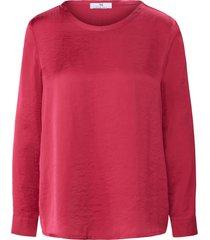 shirt lange mouwen en ronde hals van peter hahn roze