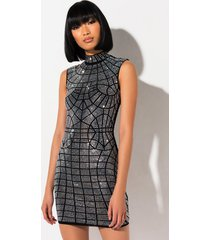 akira hot sun rhinestone mini dress